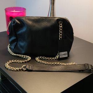 BNWT Black gold chain purse
